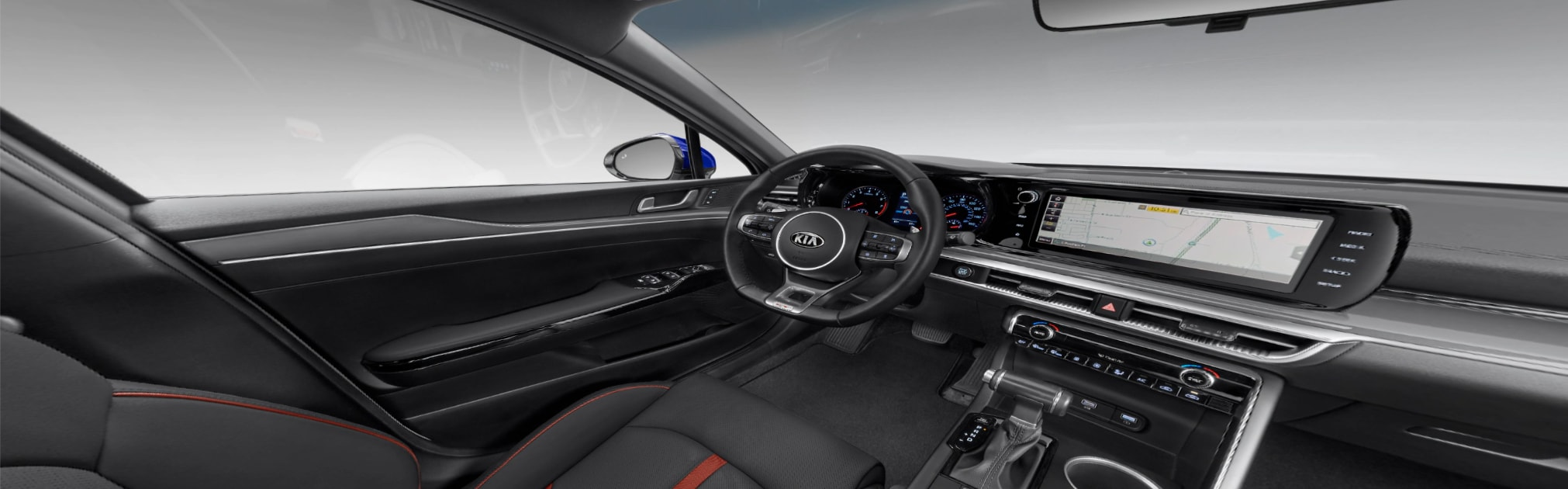 2021 Kia Seltos Interior Leatherette with Red Accents